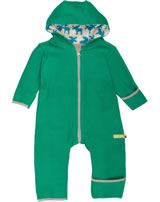 loud + proud Fleece-Overall mit Kapuze ELCH forest GOTS 546-fo