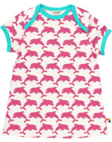 loud + proud Kleid Kurzarm DELPHINE coral 6002-co GOTS