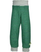 loud + proud Pantalon molletonné poignets jade 4061-jad GOTS