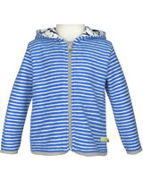 loud + proud Fleece-Jacke mit Kapuze PINGUIN cobalt 3045-cob GOTS