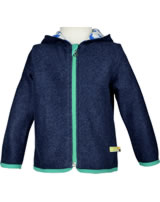 loud + proud Fleece-Jacke mit Kapuze ROBBE midnight 3045-gr GOTS