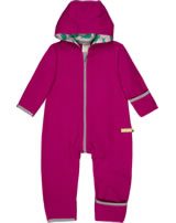 loud + proud Fleece-Overall mit Kapuze berry 5056-ber GOTS