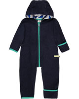 loud + proud Fleece-Overall mit Kapuze midnight 5056-mi GOTS