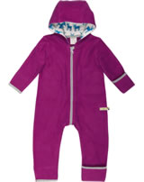 loud + proud Fleece-Overall mit Kapuze orchid 5033-or GOTS