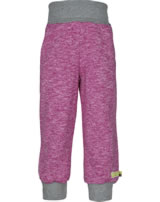 loud + proud Trousers with cuffs berry 4081-ber GOTS