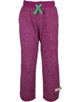 loud + proud Pantalon avec poignets berry 4065-ber GOTS