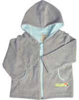 loud + proud Veste BASIC grey melange GOTS 344-gr