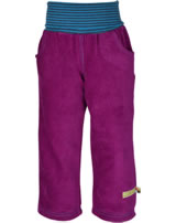 loud + proud Pants corduroy with lining orchid 4037-or GOTS