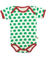 loud + proud Body pour bébé BASIC HÉRISSON verde 201-ve GOTS
