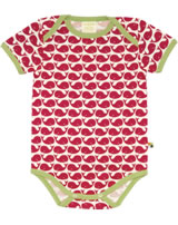loud + proud Body pour bébé BALEINES rosenrot 201-ro GOTS