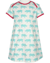loud + proud Kurzarm-Kleid NASHORN & GEPARD cloud 6014-clo GOTS
