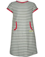 loud + proud Kurzarm-Kleid STREIFEN olive 6015-oli GOTS