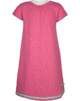 loud + proud Kurzarm-Kleid Waffelstruktur azalea 6027-aza GOTS