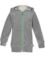 loud + proud Nicki-Jacke mit Kapuze PINGUIN grey 3061-gr GOTS