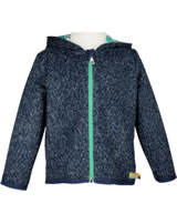 loud + proud Cardigan with hood SEAL midnight 3047-mi GOTS