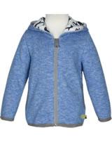 loud + proud Sweat-Jacke mit Kapuze Melange PINGUIN cobalt 3062-cob GOTS