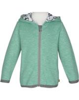 loud + proud Sweat-Jacke mit Kapuze Melange PINGUIN jade 3062-jad GOTS