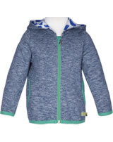loud + proud Sweat-Jacke mit Kapuze Melange ROBBE midnight 3062-mi GOTS