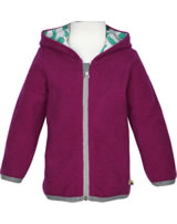 loud + proud Sweat-Jacke mit Kapuze Wollfleece ROBBE berry 3062-ber GOTS