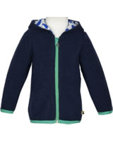 loud + proud Sweat-Jacke mit Kapuze Wollfleece ROBBE navy 3062-ny GOTS