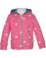 loud + proud Hooded Jacket SLOTH azalea 3055-aza GOTS