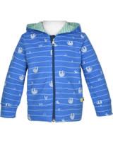 loud + proud Hooded Jacket SLOTH cobalt 3055-cob GOTS