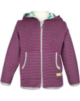 loud + proud Sweat-Jacke m.Kapuze ROBBE RINGEL berry 3034-ber GOTS