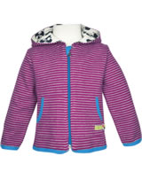 loud + proud Sweat-Jacke RINGEL orchid 3026-or GOTS
