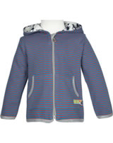 loud + proud Sweat-Jacke RINGEL petrol 3026-pe GOTS
