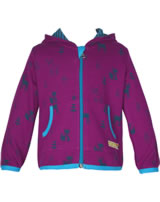 loud + proud Sweatjacke m. Wolle und Kapuze orchid 3028-or GOTS