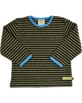 loud + proud T-Shirt Langarm SCHNEEHASE Streifen choco./grey mel. GOTS 150-ch/gr