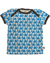 loud + proud T-Shirt Kurzarm BASIC Elefant aqua/chocolate kbA 204-aq
