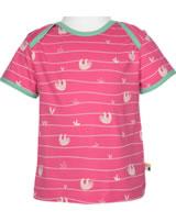 loud + proud Shirt short sleeve ALLOVER azalea 1044-aza GOTS