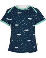 loud + proud Shirt short sleeve ALLOVER ultramarin 1044-ul GOTS