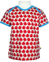 loud + proud T-Shirt Kurzarm BASIC VÖGEL tomato GOTS 204-to