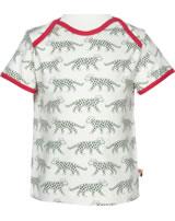 loud + proud Shirt manches courtes Rhino et guépard olive 1024-oli GOTS