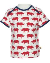 loud + proud T-Shirt Kurzarm Nashorn cayenne 1024-cay GOTS