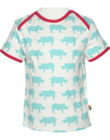 loud + proud T-Shirt Kurzarm Nashorn cloud 1024-cl GOTS