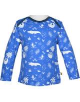 loud + proud Shirt long sleeve ALLOVER cobalt 1040-cob GOTS