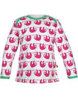 loud + proud Shirt long sleeve SLOTH azalea 1035-aza GOTS