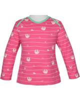 loud + proud Shirt long sleeve ALLOVER azalea 1045-aza GOTS