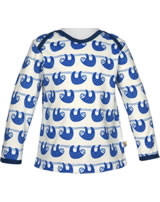 loud + proud Shirt long sleeve SLOTH cobalt 1035-cob GOTS