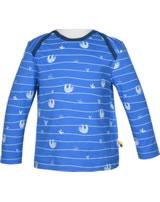 loud + proud Shirt long sleeve ALLOVER cobalt 1045-cob GOTS