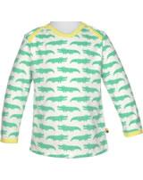 loud + proud Shirt long sleeve CROCODILE mint 1035-min GOTS