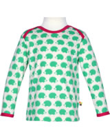 loud + proud Shirt manches longues BASIC HEDGEHOG verde 205-ve GOTS