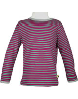 loud + proud Shirt long sleeve Stripes berry 1028-ber GOTS