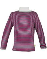 loud + proud T-Shirt Langarm RINGEL berry 1028-ber GOTS