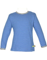 loud + proud Shirt long sleeve Stripes cobalt 1028-cob GOTS
