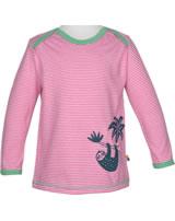 loud + proud Shirt long sleeve SLOTH azalea 1037-aza GOTS