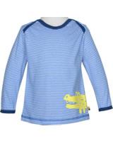 loud + proud Shirt long sleeve CROCODILE cobalt 1037-cob GOTS